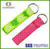 Keys를 위한 도매 Custom Embroidery Designs Funky Wrist Polyester Key Holder Wristbands Keychain Short Lanyards