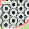 tessuto solubile in acqua del merletto del ricamo di disegno del cerchio di 110cm