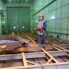 청소 장비 복잡한 강철 구조물 모래 폭파 룸 기계