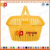 Panier à provisions en plastique de traitement de supermarché double (Zhb5)