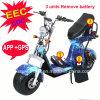 Verwijdert de Elektrische Autoped Europa van Coco van de stad met 3 Eenheden de Autoped van Harley van de Batterij met GPS