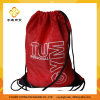 rotes Polyester210d Nylondrawstring-Beutel-Rucksack