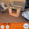 楕円形のコーヒーテーブルのガラス木の家具