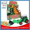 Игрушка конструкции трактора хуторянина с конфетой