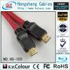 Прозрачный круглый тональнозвуковой кабель провода HDMI