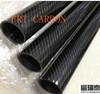 Abrigo trenzado del rodillo de la armadura de tela cruzada del tubo de la fibra del carbón 3k