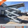 Plataforma de elevación hidráulica vertical de carga de tijera con CE y ISO9001
