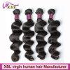 Многократная цепь текстурирует человеческие волосы девственницы бразильские в низкой цене