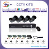 Câmera infravermelha do sistema /CMOS 600tvl do CCTV da fiscalização 4CH, 4 jogos sozinhos do sistema do carrinho DVR do CH D1 (5004S-4G)