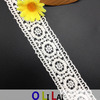 garniture blanche de lacet de lacet suisse du coton Olt0201 de 3.5cm pour Madame Garment
