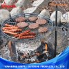 Justierbare Höhen-grillt im Freienumlauf BBQ Grill-Hilfsmittel