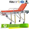 Berufsteam-Qualitäts-Krankenwagen-Bahre-Laufkatze