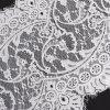 Merletto di lavoro a maglia del ciglio del tessuto bianco del merletto per gli accessori dell'indumento