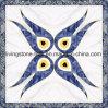 azulejos de suelo cristalinos azules del rompecabezas de la alfombra en sitio del rezo