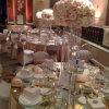 Décoration de mariage en cristal de marche façon stand stand bougeoir en cristal et de fleurs pour l'étape de mariage