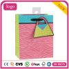 Bolsa de papel rosada colorida del regalo del arte del almacén de ropa