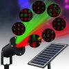 太陽LEDのクリスマスの照明の屋外の庭防水レーザープロジェクターライト