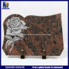 Памятные доски Headstone Бразилии красные высеканные Rose