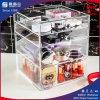 Organizador de cosméticos em acrílico transparente 4 Gavetas Makeup Organizadores