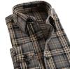 남자 면 Flannel 우연한 검사 셔츠