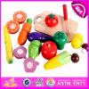 더 큰 심상 2015 아이 나무로 되는 야채, 과일 절단 장난감을, 녹색 페인트 가장한다 실행 절단 장난감, 나무로 되는 자석 절단 야채 장난감 W10b125를 보십시오