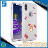 De sneeuwman schittert het Geval van de Telefoon van het Poeder TPU voor iPhone X