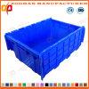Het vouwbare Opgestapelde Krat van de Omzet van de Supermarkt Plastic Logistiek met Deksel (ZHTB30)