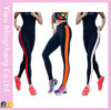 Hot Sale coutures latérales rayé couleur Sports Yoga pantalon de coton