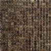 Sale caldo Emperador Dark Marble 25mm Square Chip Mosaic Tile