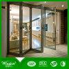 2017 La última puerta plegable de aluminio con cristal templado