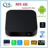 Casella astuta di Kodi TV del Android 5.1.1 della ROM 8g di RAM 1g di Quadrato-Memoria di M9 4k S905