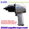 높은 토크 압축 공기를 넣은 공구 공기 충격 렌치 K-2501
