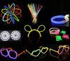 Bastoni flessibili dell'indicatore luminoso del bastone di incandescenza con il disegno accessorio del braccialetto e dei capelli della montatura per occhiali