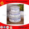 3PCS esmalte del recipiente de mezcla con la flor de la etiqueta