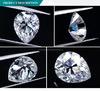De in het groot Vorm voor altijd Één Witte van de Peer Oec Diamant Moissanite