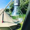 Bulbo de lâmpada leve de suspensão de acampamento do diodo emissor de luz do jardim ao ar livre Rotatable solar impermeável