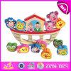 Комплект игрушки 2014 детей баланса деревянного блока установленный, цветастая игра игрушки детей баланса, игрушка W11f039 детей баланса типа шлюпки деревянная