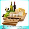 Scheda di bambù del formaggio con la lama della cupola, rasoio, &Spreader della forcella