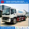 Isuzu 4X2 진공 하수 오물 트럭 6m3 하수 오물 흡입 트럭