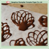Hornada de la galleta de chocolate para hornear de silicona tratada papel de pergamino