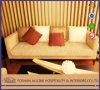 현대 알루미늄 0809 오크 백색 직물은 로비 고급 호텔 가구 4 시트 Livring 룸 소파 가구를 간단하게 한다