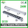Singel fila 24W 12V DC proyector LED bañador de pared