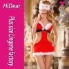 Reizvolle Weihnachtskostüm-Marabus trimmten blinderes Kleid mit Taste G-Zeichenkette