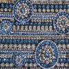 Polyester 100% Mesh Embroidery avec 3mm Sequin