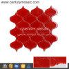 La plus nouvelle tuile de conception cristal de verre de mosaïque rouge d'arabesque