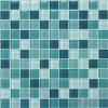 Mosaico blu di cristallo della piscina del Aqua