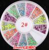 새로운 Design Nail Art Decoration Stickers Candy Colour Stud Colour Rivet 2mm