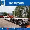 Carregador de baixa Titan 75 Ton e 45 Ton grandes máquinas de 4 eixos de transporte de cisne Cama Baixa reboque destacável