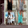 Vestido Sleeveless do verão da praia das mulheres das senhoras superiores da forma (TKYA323)