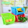 Kitchen en plastique Storage Baskets, Collapsible Storage Basket, Lourd-rendement Plastic Baskets pour Vegetable/Fruit
